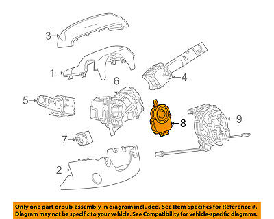 GM OEM Steering Column-Angle Sensor 13589398