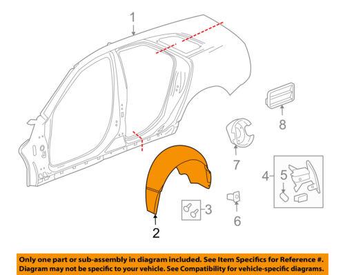 Cadillac GM OEM SRX-Front Fender Liner Inner Splash Shield Guard Right 22868774