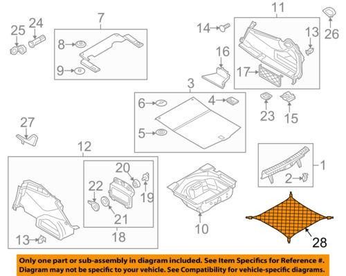 Audi Genuine 4E086186901C Cargo Net