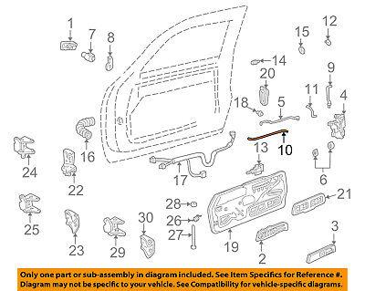 GM OEM Front Door-Lock Rod Left 15740529