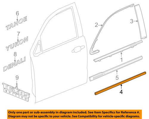 Genuine GM Parts 88944483 Driver Side Front Door Side Molding ...