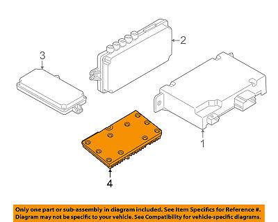 BMW OEM 2010 550i GT Electrical-Module 66549226801