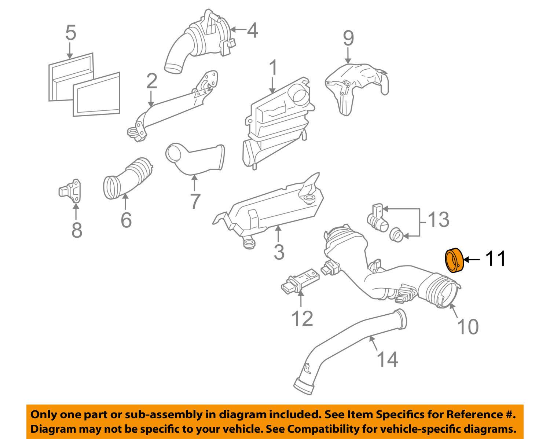 Genuine Oem Mercedes Benz Turbo Air Intake Connector Tube Gasket 642 2010 Sprinter Engine Diagram 2 Of 3