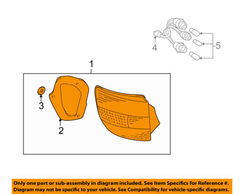 Genuine Toyota Parts 81561-2B390 Toyota Celica Driver Side Replacement Tail Light Assembly