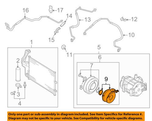 MAZDA OEM 10-13 3 Compressor-Clutch Coil BBM461L30