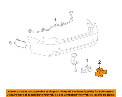 Lexus TOYOTA OEM 10-12 RX350 Electrical-Park Sensor Retainer 8934833060D4