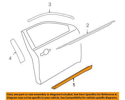 FORD OEM 10-18 Taurus Front Door-Side Molding Left AG1Z5420879AA