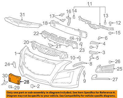 Cadillac GM OEM 14-16 CTS-License Plate Bracket Mount Holder 23468245