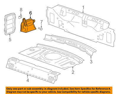 Cadillac GM OEM 13-18 ATS Rear Body-Water Shield Left 22744431