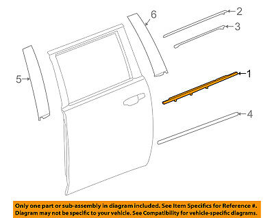 MAZDA OEM 04-06 3 Rear Window//Door-Belt Molding Weatherstrip Right BN8V50660D
