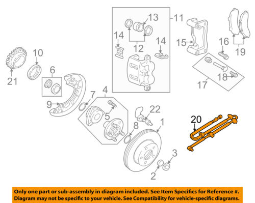 FOR Ford Lincoln Mercury 98-00 Wheel Speed Sensor w//Wire Harness Rear Left//Right