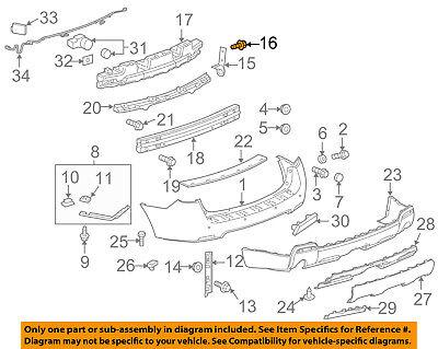 GM OEM Rear Suspension-Shock Mount Bolt 11589273