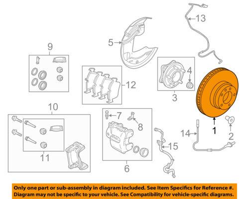 LAND ROVER FRONT BRAKE ROTOR DISC SET x2 RANGE SPORT LR4 SDB000624 DELPHI