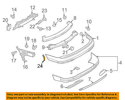 AUDI OEM 07-15 Q7 Rear Bumper-Fender Wheel Flare Molding Left 4L0853827AGRU