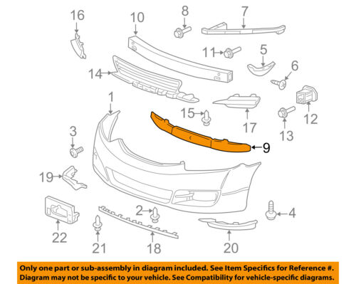 HONDA OEM 14-15 Civic Bumper Face-Foam Impact Absorber Bar 71570TS8A50