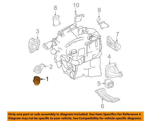 Mercedes E500 CLS500 Engine Motor Mount Left Right 2112403017