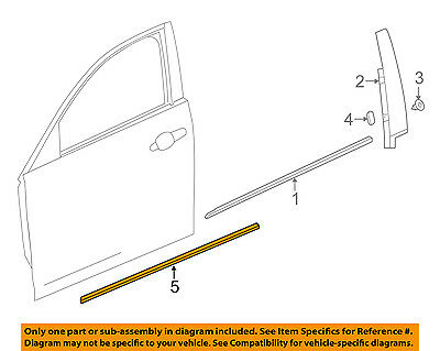 Cadillac GM OEM 16-18 CT6 FRONT DOOR-Body Side Molding Left 23409490