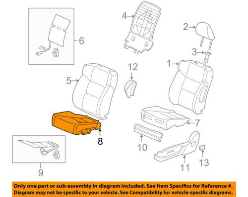 Honda Genuine 81531-SH0-A01ZA Seat Cushion Trim Cover Front Left