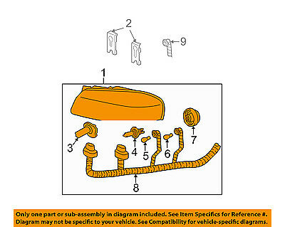 Chevrolet GM OEM 00-05 Monte Carlo-Headlight Head Light Headlamp 10349960