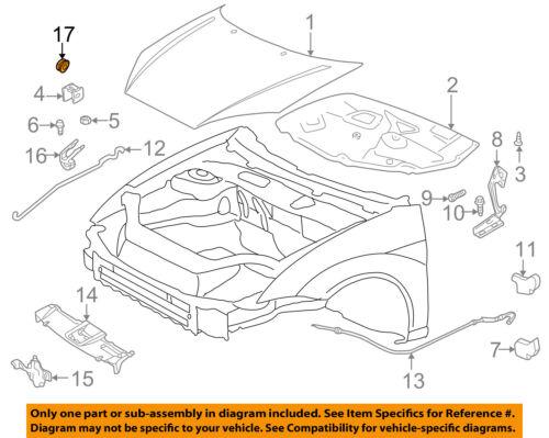OEM for Ford Focus 00-07 2pcs Hood Prop Rod Pivot Grommet W700510S300