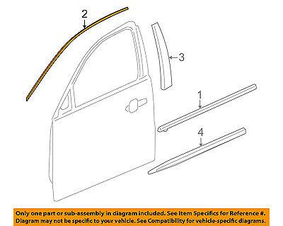 Buick GM OEM 13-16 LaCrosse Front Door-Reveal Molding Right 22881232