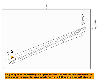 GM OEM Exterior-Rocker Panel Molding Retainer 11547210