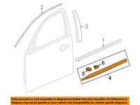 GM OEM Front Door-Upper Molding Trim Left 23173661