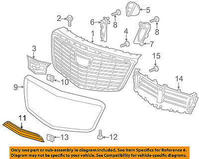 Cadillac GM OEM 14-16 CTS Front Bumper-Lower Grille Grill 22858103
