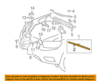 TOYOTA OEM Windshield Wiper Blade Refill Left 8521468020