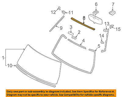 TOYOTA OEM 07-14 FJ Cruiser Windshield-Reveal Molding 7550335061A0