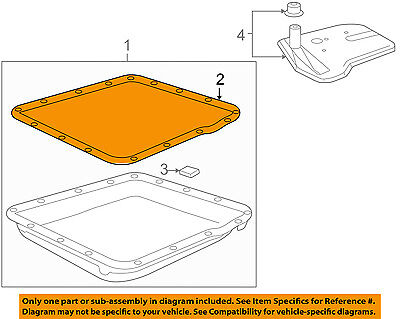 GM OEM Automatic Transmission-Pan Gasket 8654799