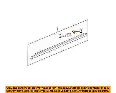 Cadillac GM OEM 00-05 DeVille Exterior-Rocker Panel Molding Retainer 25742293