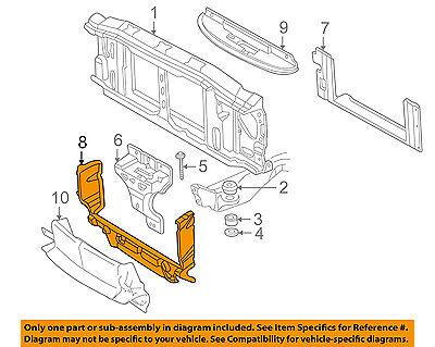 GM OEM Radiator Support-Air Baffle Duct Deflector 15158003 Air Baffle Duct