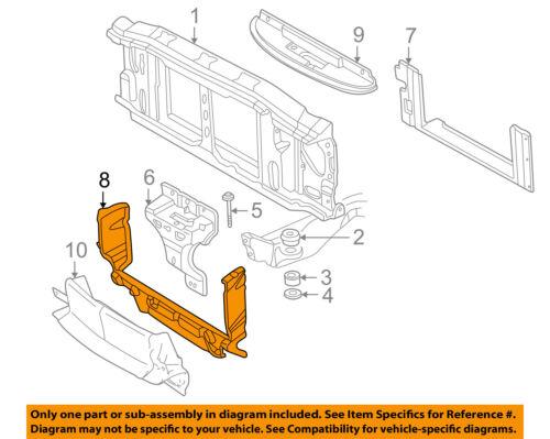 GM OEM Radiator Support-Air Baffle Duct Deflector 15158003