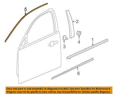 Chevrolet GM OEM 13-16 Malibu Front Door-Reveal Molding Left 23176655