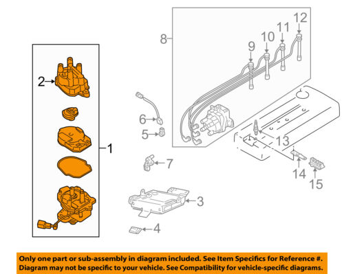 NISSAN OEM 98-01 Altima-Distributor 221009E001RE | eBay | 1998 Nissan Altima Distributor Wiring Diagram |  | eBay