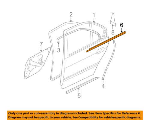 details about bmw oem 540i rear door window sweep belt molding weatherstrip left 51228159021 Belt Diagram On 2140