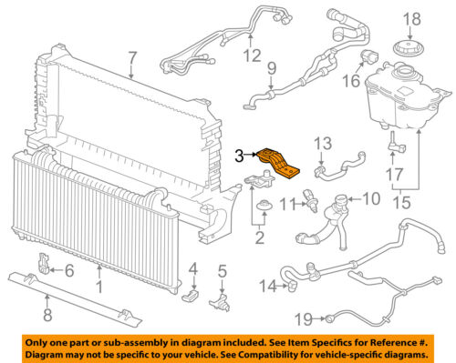 Details about JAGUAR OEM 17-18 XE 2.0L-L4 Radiator-Upper cket Left on