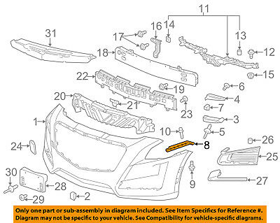 Cadillac GM OEM 14-18 CTS Front Bumper-Side Bracket Right 22806400
