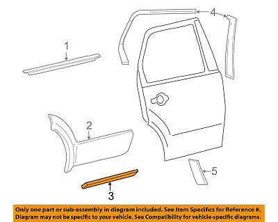 FORD OEM Freestyle Rear Door Body Side-Lower Molding Trim Left 6F9Z7425557DAPTM