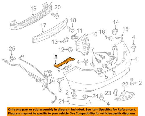 MAZDA OEM 10-13 3 Rear Bumper-Retainer Bracket Left BBM4502J1E
