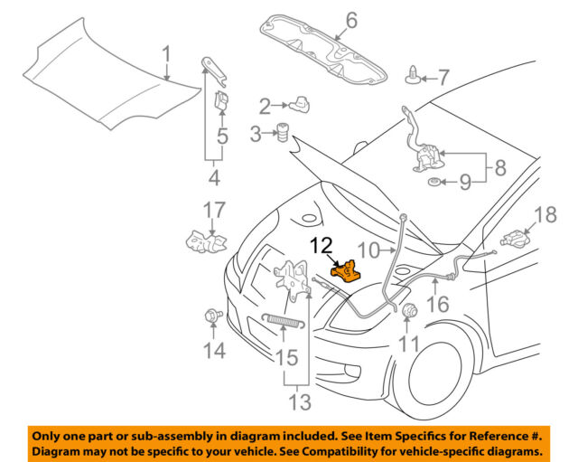 Genuine toyota yaris belta scion xd ist hood stay rod support toyota oem hood support prop rod clamp clip holder 5345252010 sciox Image collections