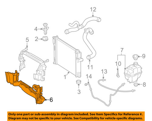 MERCEDES OEM 10-13 E350 3.5L-V6 Radiator-Lower Baffle 2125050430