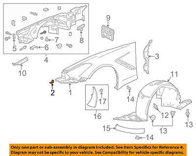 Chevrolet GM OEM 14-18 Corvette-Fender Bracket Left 23479661