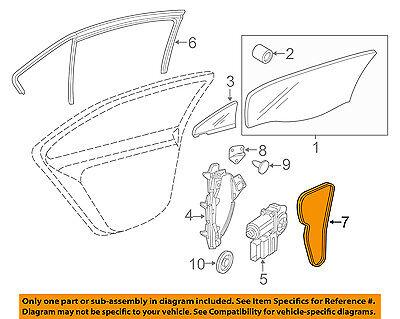 VW VOLKSWAGEN OEM 15-18 Jetta Glass-Rear Door-Cover Left 5C6839915C