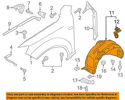 AUDI OEM 11-15 Q7-Front Fender Liner Splash Shield Left 4L0809961E