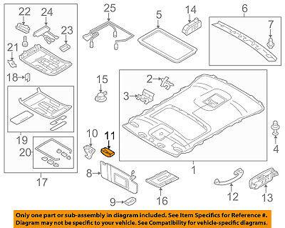 AUDI OEM 11-17 A8 Quattro Interior-Roof-Holder Cap 4G0857563DX6