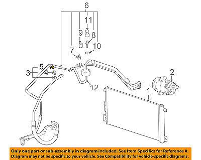 GM OEM A/C AC Condenser/Compressor/Line-Hose & Tube Assembly Cap 52471377