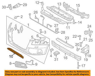AUDI OEM 14-16 SQ5 Front Bumper Grille Grill-Center 8R0807647C