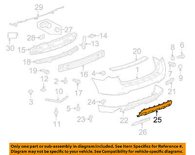 "Chevrolet GM OEM 10-15 Equinox-Bumper Trim-Molding 25798905 ""CHROME"""